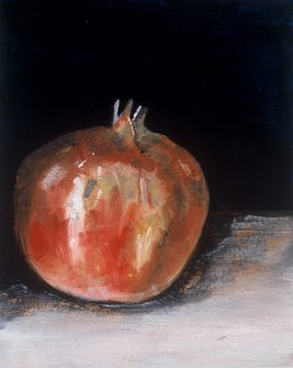 King Pomegranate, Oil, by Robyn Church Hatton